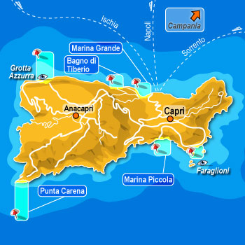 Insel Capri Insel Capri Capri Insel Im Golf Von Neaepl